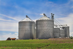 Metal silo Stock Image