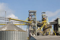 Metal silo agriculture granary industry Stock Photography