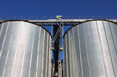 Metal silos Stock Image