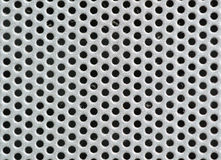 Metal silver Background with Holes. Metal Grid. Stock Photography