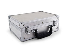 Metal Silver Briefcase Stock Image