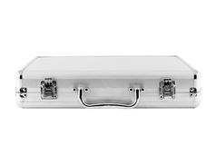 Metal silver briefcase. Royalty Free Stock Image