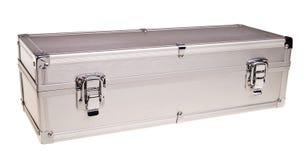 Metal silver case. Stock Image