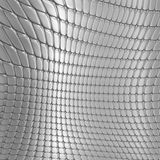 Metal silver checked  pattern Royalty Free Stock Image