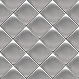 Metal silver checked pattern. Metal background or texture of checked aluminium plate royalty free illustration