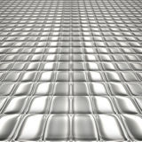 Metal silver checked  pattern Royalty Free Stock Images