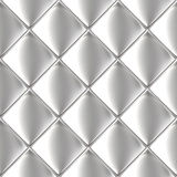 Metal silver checked  pattern Stock Image