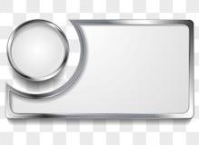 Metal silver frame background Stock Image