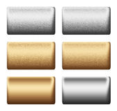Metal silver gold board, background to desig Royalty Free Stock Images
