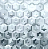 Metal silver isometric low poly seamless pattern Stock Image