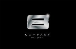 8 silver metal number company design logo. 8 metal silver logo number on a black blackground Stock Photography