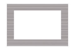 Silver Picture Frame. A metal silver picture frame isolated Royalty Free Stock Photo