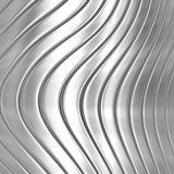 Metal silver striped pattern Stock Image