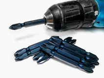 Metal, Single Object, Steel, Electric Screwdriver royalty free stock images