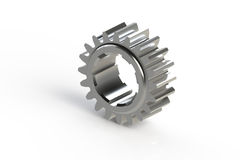 Metal single sprocket (computer generated gear). Metal single sprocket (3D computer generated gear Stock Images