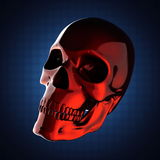 Metal skull on blue background Stock Photography