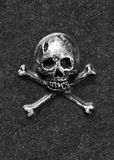 Metal skull and bones Stock Photos