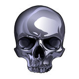 Metal skull Stock Images