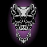 Metal skull screaming. Skull design, the perfect illustration for you, its high quality illustration royalty free illustration