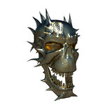 Metal skull. On a white background Stock Image