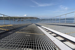 Metal slipway for launch of lifeboat Royalty Free Stock Photos