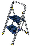 Metal small stepladder Royalty Free Stock Images