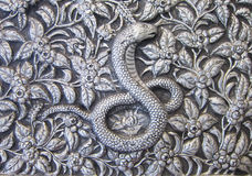 Metal Snake. Texture of silver metal Snake stock images
