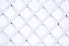 Metal snow grid Royalty Free Stock Photography