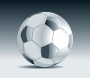 Metal Soccer Ball. 1 Vector Drawing Royalty Free Illustration