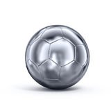 Metal soccerball Stock Images