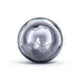 Metal soccerball. 3d rendering of a metal soccerball Stock Illustration
