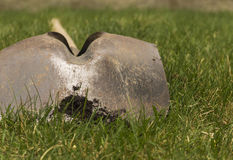 Metal Spade on Grass Royalty Free Stock Photography