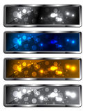 Metal sparkling frames. Modern metal sparkling festive backgrounds - frames Royalty Free Stock Photo