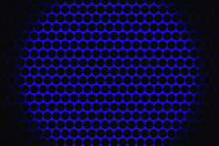 Metal speaker grill texture for using as background. Royalty Free Stock Photography
