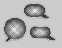 Metal speech bubbles vector illustration Stock Photo