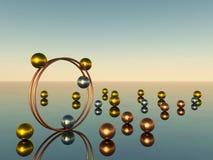 Metal sphere Royalty Free Stock Image