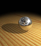 Metal sphere Royalty Free Stock Photography