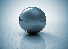 Metal sphere Royalty Free Stock Image