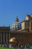 Metal sphere of the courtyard of the Vatican Museum. Royalty Free Stock Images