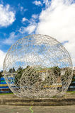 Metal sphere sculpture park in Quito Ecuador South Stock Images