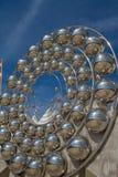 Metal sphere. Wat Phra That Pha kaew with metal sphere royalty free stock photo