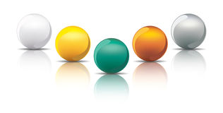 Metal spheres Stock Image