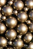 Metal spheres in sunlight Stock Image
