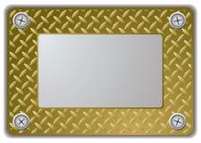 Metal Spiegelfeld Stockbild