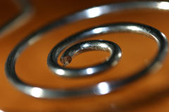 Metal spiral. Spiral royalty free stock photography
