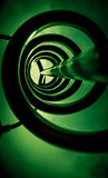 Metal spiral in green Stock Photo