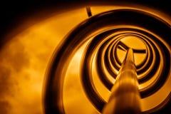 Metal spiral in orange Royalty Free Stock Photo
