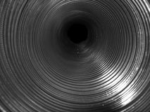 Metal spiral pipe Royalty Free Stock Photo