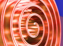 Metal spiral polished metal. Shallow depth of field. Stock Photography