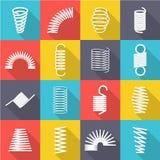 Metal spiral set vector illustration